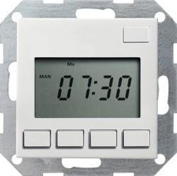 Таймер Gira SYSTEM 55, электронный, белый глянцевый, 117503