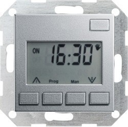 Таймер Gira SYSTEM 55, электронный, алюминий, 117526