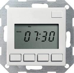 Таймер Gira SYSTEM 55, электронный, белый матовый, 117527