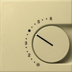Накладка на термостат Gira SYSTEM 55, кремовый глянцевый, 149001
