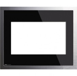 Рамка KNX/EIB черное стекло/алюминий