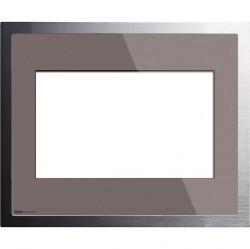 Рамка для Control 9 KNX/EIB дымчатое стекло/ алюминий