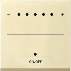 Накладка на светорегулятор Gira SYSTEM 55, кремовый глянцевый, 226001