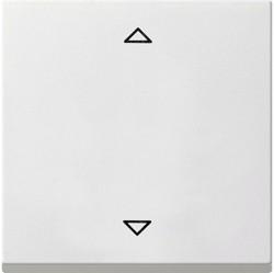 Клавиша для жалюзийного выключателя Gira SYSTEM 55, белый глянцевый, 232403