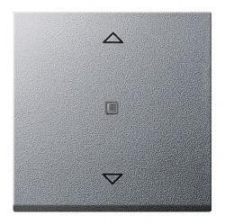 Клавиша для жалюзийного выключателя Gira SYSTEM 55, алюминий, 232826