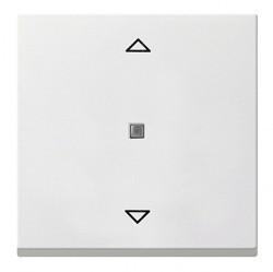 Клавиша для жалюзийного выключателя Gira SYSTEM 55, белый матовый, 232827