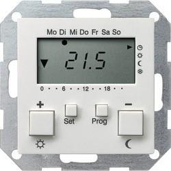 Термостат комнатный Gira SYSTEM 55, белый глянцевый, 237003
