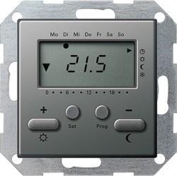 Термостат комнатный Gira E22, стальной, 237020