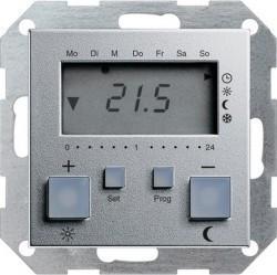 Термостат комнатный Gira SYSTEM 55, алюминий, 237026