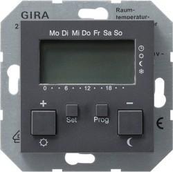 Термостат комнатный Gira SYSTEM 55, антрацит, 237028