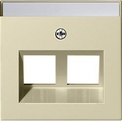 Накладка на розетку информационную Gira SYSTEM 55, кремовый глянцевый, 264001