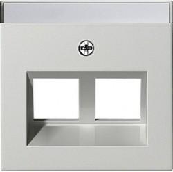 Накладка на розетку информационную Gira SYSTEM 55, белый глянцевый, 264003