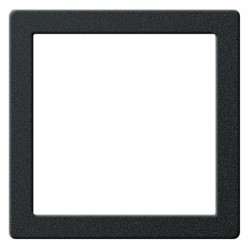 E22 Монтажная рамка, черный матовый
