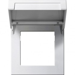 F100 Монтажная рамка с крышкой, глянцевый белый
