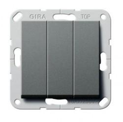 Выключатель 3-клавишный Gira SYSTEM 55, скрытый монтаж, антрацит, 283028