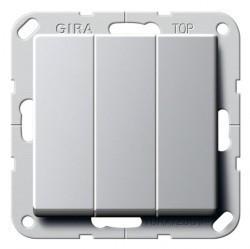 Переключатель 3-клавишный Gira E22, скрытый монтаж, алюминий, 2832203