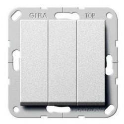 Выключатель 3-клавишный Gira SYSTEM 55, скрытый монтаж, кремовый глянцевый, 284401