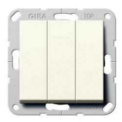 Выключатель 3-клавишный Gira SYSTEM 55, скрытый монтаж, белый глянцевый, 284403