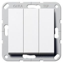 Выключатель 3-клавишный Gira SYSTEM 55, скрытый монтаж, алюминий, 284426