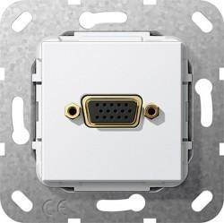 Розетка VGA Gira SYSTEM 55, белый, 565203