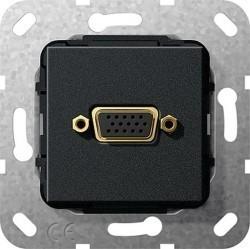 Розетка VGA Gira SYSTEM 55, черный, 565210