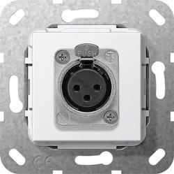 Розетка XLR Gira SYSTEM 55, белый, 566703