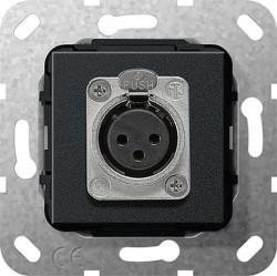 Розетка XLR Gira SYSTEM 55, черный, 566710