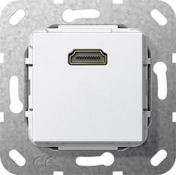 Розетка HDMI Gira SYSTEM 55, белый, 566903