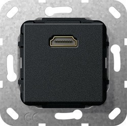 Розетка HDMI Gira SYSTEM 55, черный, 566910