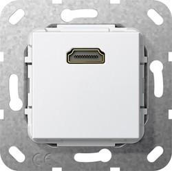 Розетка HDMI Gira SYSTEM 55, белый, 567003