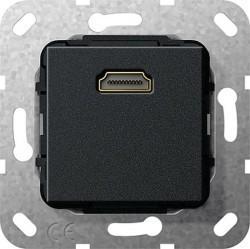 Розетка HDMI Gira SYSTEM 55, черный, 567010