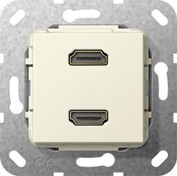 Розетка HDMI Gira SYSTEM 55, бежевый, 567101