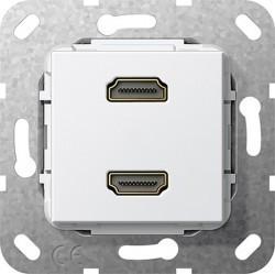 Розетка HDMI Gira SYSTEM 55, белый, 567103