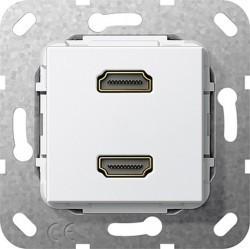 Розетка HDMI Gira SYSTEM 55, белый, 567203