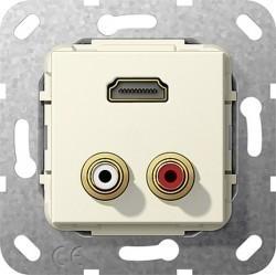 Розетка HDMI Gira SYSTEM 55, бежевый, 567301