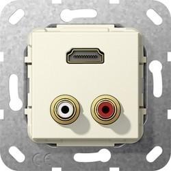 Розетка HDMI Gira SYSTEM 55, бежевый, 567401