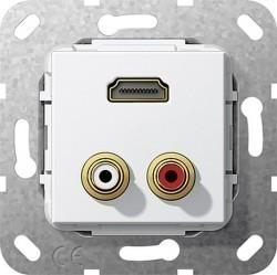 Розетка HDMI Gira SYSTEM 55, белый, 567403