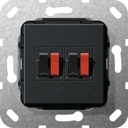 Аудио-розетка Gira SYSTEM 55, черный, 569310