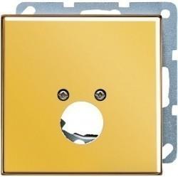 Накладка на аудиорозетку Jung LS METAL, золотой, GO2962-1