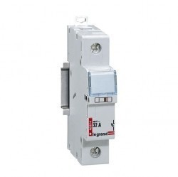 Разъединитель-держатель предохранителей - 1П - цилиндрические бытовые предохранители - 25 А