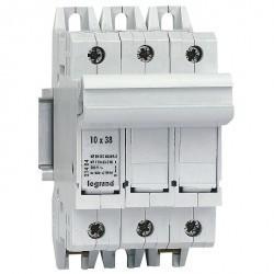 Выключатель-разъединитель SP 38 - 3П - 3 модуля - для промышленных предохранителей 10х38