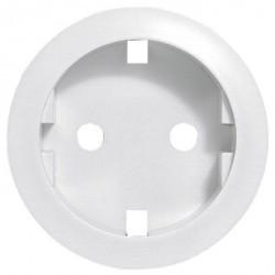 Накладка на розетку Legrand CELIANE, с заземлением, белый, 068131