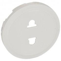 Накладка на розетку Legrand CELIANE, с заземлением, белый, 068132