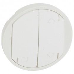 Накладка на жалюзийный выключатель Legrand CELIANE, белый, 068174