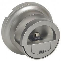 Накладка на розетку USB Legrand CELIANE, титан, 068510