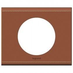 Рамка 1 пост Legrand CELIANE, кожа крем-карамель светло-коричневая, 069281