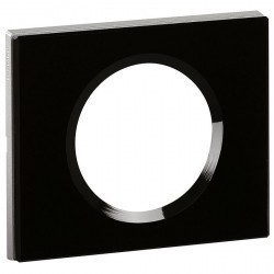 Рамка 1 пост Legrand CELIANE, черное стекло, 069301