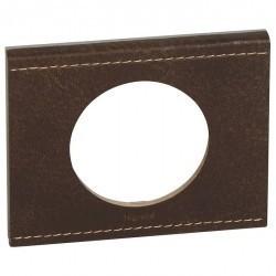 Рамка 1 пост Legrand CELIANE, текстурная кожа коричневая, 069401