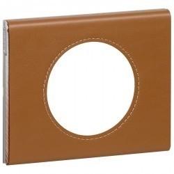 Рамка 1 пост Legrand CELIANE, кожа карамель, 069421