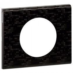 Рамка 1 пост Legrand CELIANE, кожа блэк пиксель, 069451